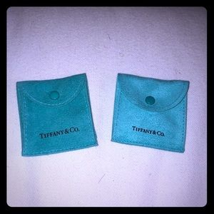 Two authentic Tiffany and Co jewelry pouches